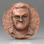 Memorial for Mike Hamby sculpted in zbrush and render keyshot.  Printed for an award and memorial.