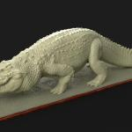 Saltwater Croc sculpted in Zbrush and rendered in Keyshot.  Will be printed into a model kit.
