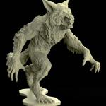 Werewolf sculpted in ZBrush and render in Keyshot.  Printed into miniature scale and will be make in to model kit.