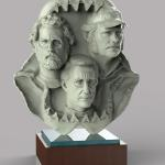 Jaws crew sculpted in Zbrush and render in Keyshot.