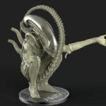 Alien sculpted in Zbrush and rendered in Keyshot.  3D print into a model kit for sale.