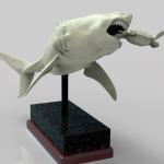 Megalodon sculpted in Zbrush and render in Keyshot.  Will be printed and produce as a model kit for kit company.
