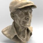 Old Man sculpted in Zbrush and rendered in Keyshot.