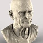 Old man sculpted in Zbrush and Render in Keyshot.