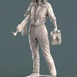 Ripley from the movie Alien sculpted in Zbrush and rendered in Keyshot.  Printed and produced and a model kit.
