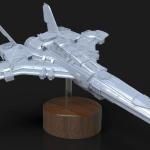 Spaceship sculpted in Zbrush and rendered in Keyshot for Legacy 3D.