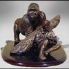 Dian Fossey Memorial-Resin-1/6 scale-Concept for a lifesize bronze sculpture-2000