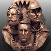 "Jaws Crew-36""x25""x15"".  This is a printed version of my zbrush sculpture.  Printed in foam lifesize."