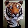 Siberian Tiger Bust-Resin-LIfesize-Available for Sale as Limited Edition/Signed and Numbered-1998