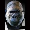 Silver Back Bust-Resin-Lifesize-Artist casting of Lowland Gorilla Family.  This is a One of a Kind and is for sale-2001