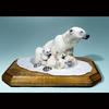 "Polar Bear Mom and Cub-Resin-7""x4""x5""-Available as Limited Edition/Signed and Numbered-2007"